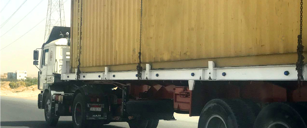 What should you know about on-carriages via truck in Egypt?
