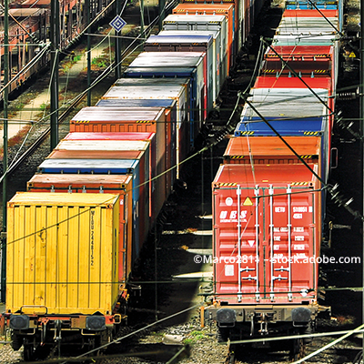 Cross-country: transports to China via container train
